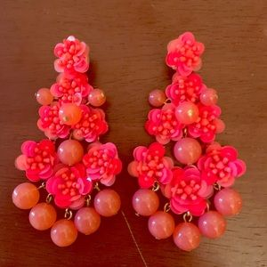 J. Crew Bright Ping Statement Earrings